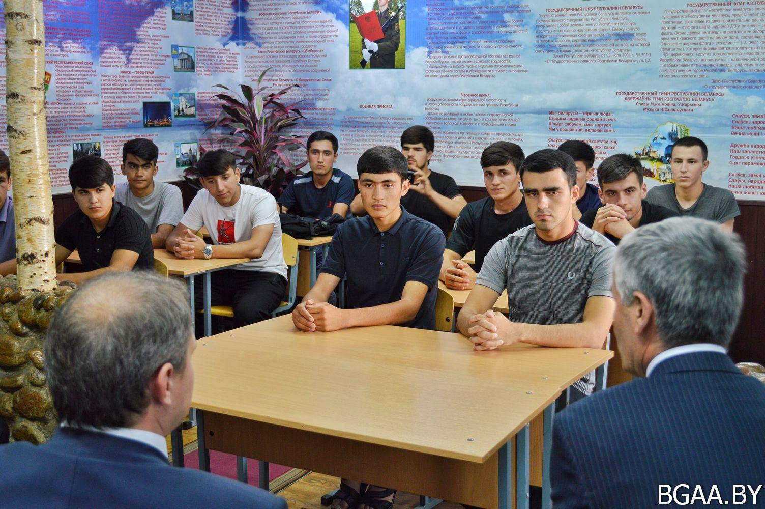 Таджикистан изучил условия обучения в БГАА